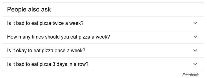 Pizza Search Results